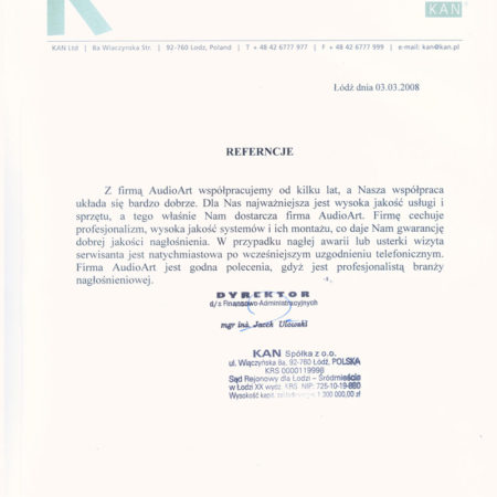 Referencje--KAN-001