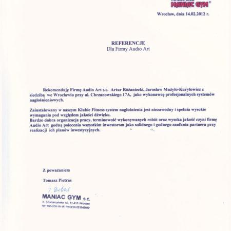 Referencje--MANIAC-GYM-001
