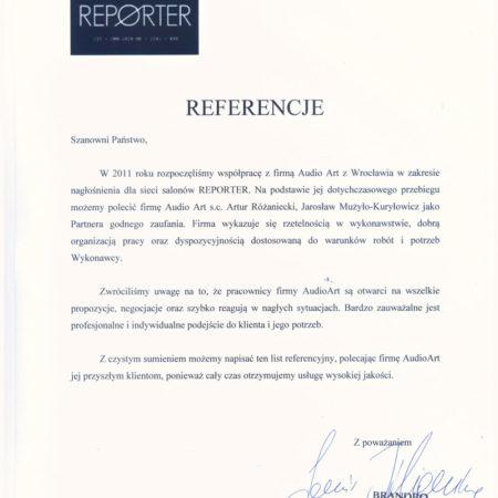 Referencje--REPORTER-001